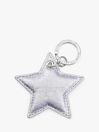 Aspinal of London Leather Star Keyring