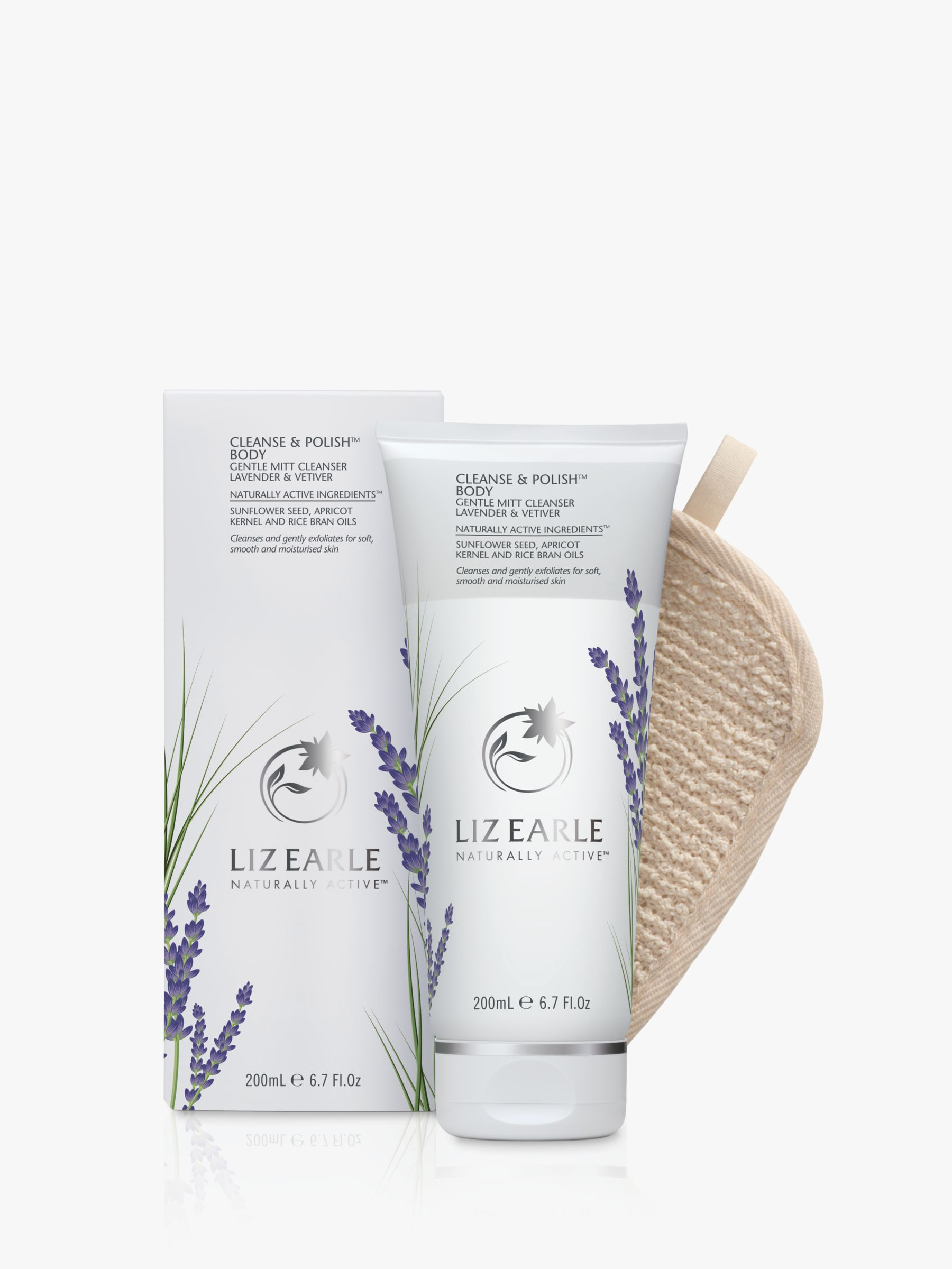 Buy Liz Earle Cleanse & Polish™ Body Gentle Mitt Cleanser Lavender & Vetiver, 200ml Online at johnlewis.com