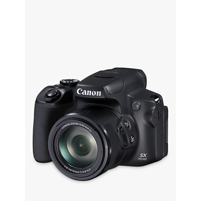 Canon PowerShot SX70 HS Bridge Camera, 4K Ultra HD, 20.3MP, 65x Optical Zoom, Wi-Fi, EVF, 3 Vari-Angle LCD Screen