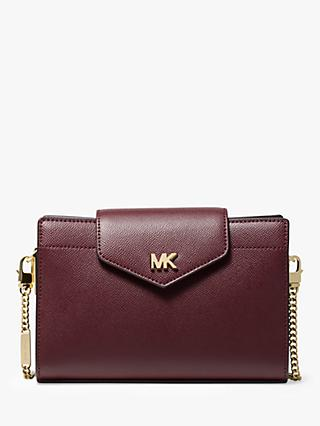 MICHAEL Michael Kors Crossbodies Medium Leather Clutch Bag, Oxblood