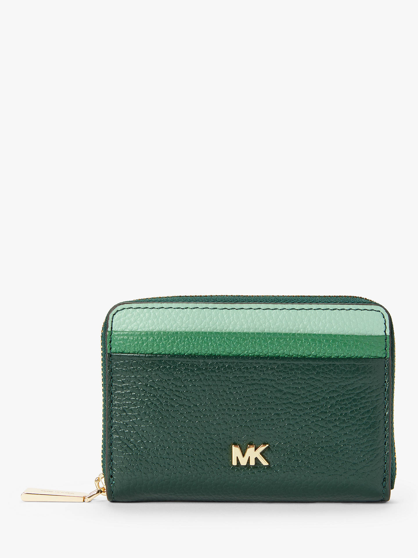9f6ec07fa006 Buy MICHAEL Michael Kors Money Pieces Leather Card Purse, Racing Green  Online at johnlewis.