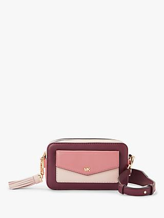 2416420867577d Michael Kors Crossbodies Small Leather Camera Bag, Rose