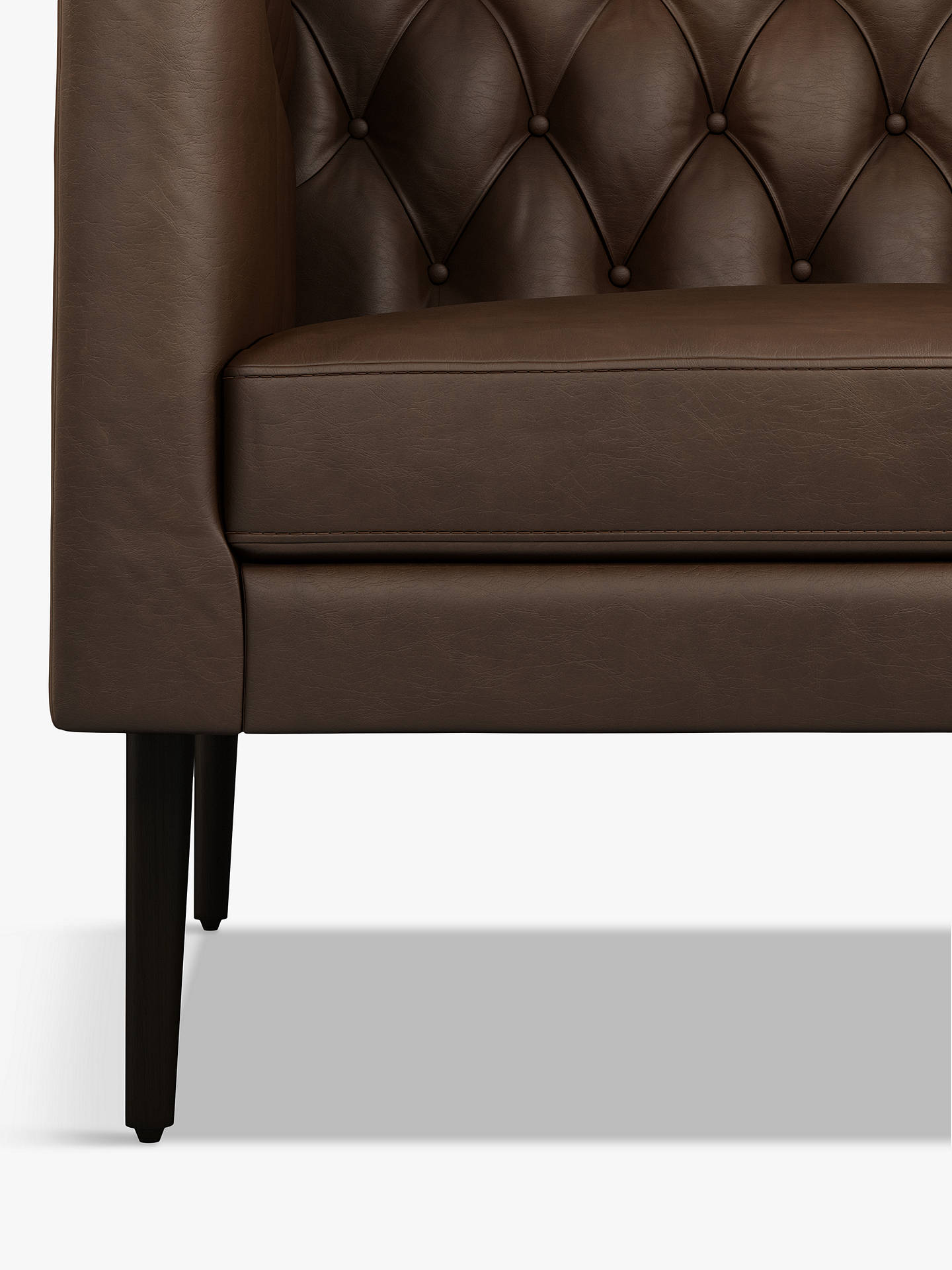 Buy Halo William Medium 2 Seater Leather Sofa, Natural Washed Chocolate Online at johnlewis.com