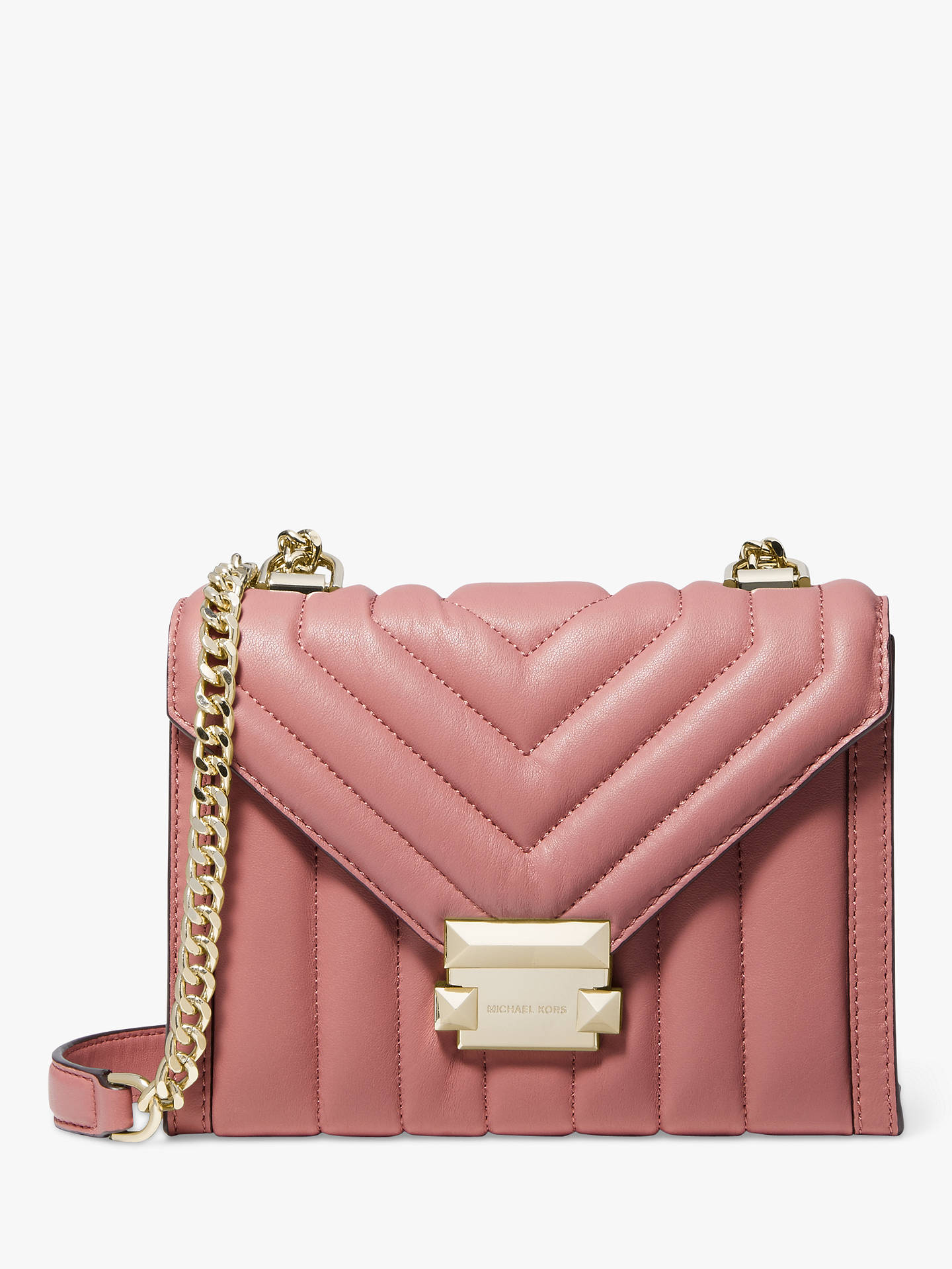 1db983f8b Buy MICHAEL Michael Kors Whitney Small Quilted Leather Shoulder Bag, Rose  Online at johnlewis.