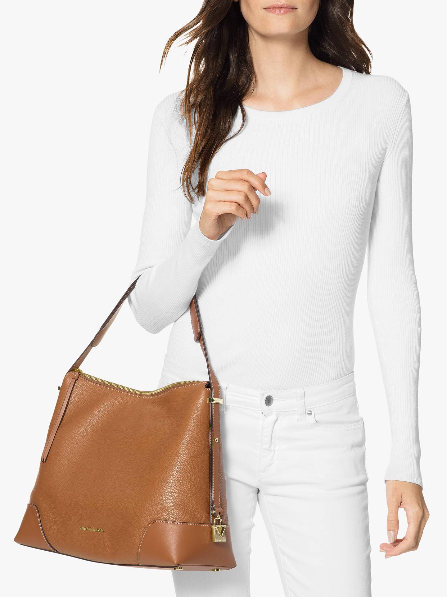 353d22231e41 MICHAEL Michael Kors Crosby Large Leather Shoulder Bag at John Lewis ...