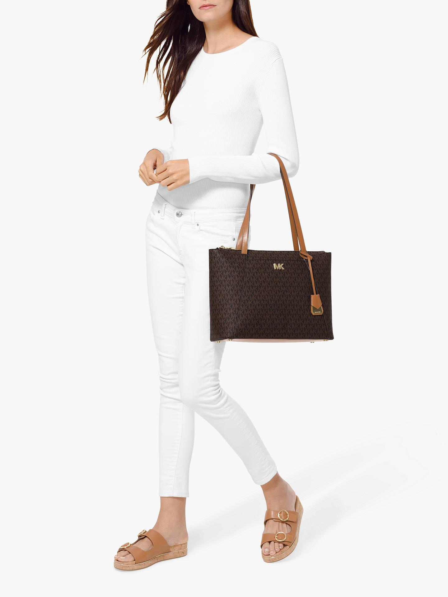 f3c80cf46d88db Buy MICHAEL Michael Kors Maddie East West Medium Tote Bag, Acorn Online at  johnlewis.
