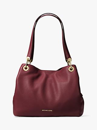 32ba71f7829b MICHAEL Michael Kors Raven Leather Large Shoulder Bag