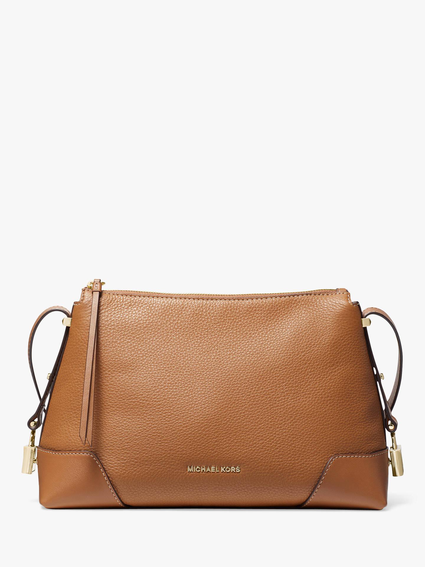 7645b63ebf8a MICHAEL Michael Kors Crosby Medium Leather Messenger Bag at John ...