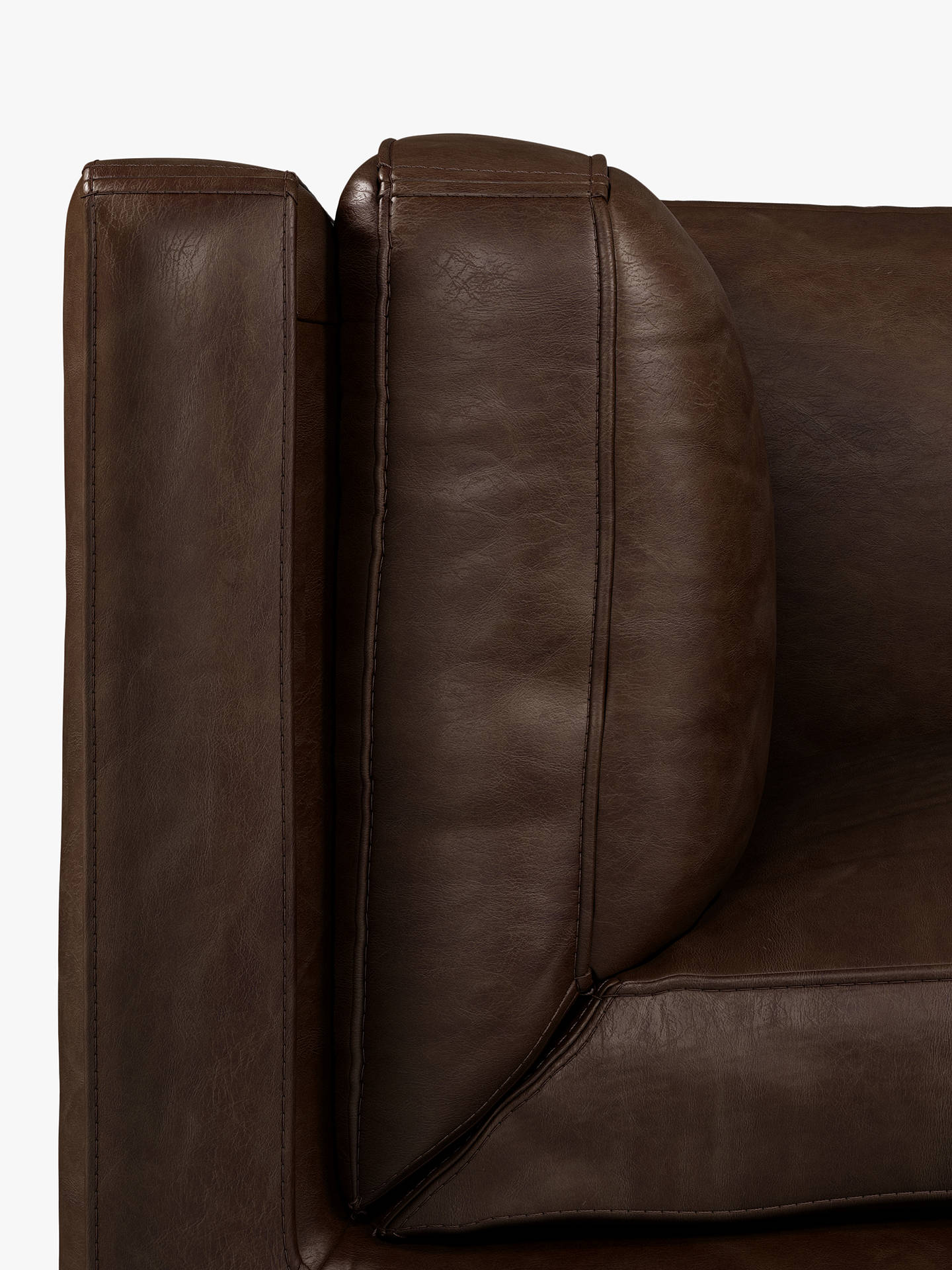 Buy Halo Spencer Large 3 Seater Leather Sofa, Antique Whisky Online at johnlewis.com