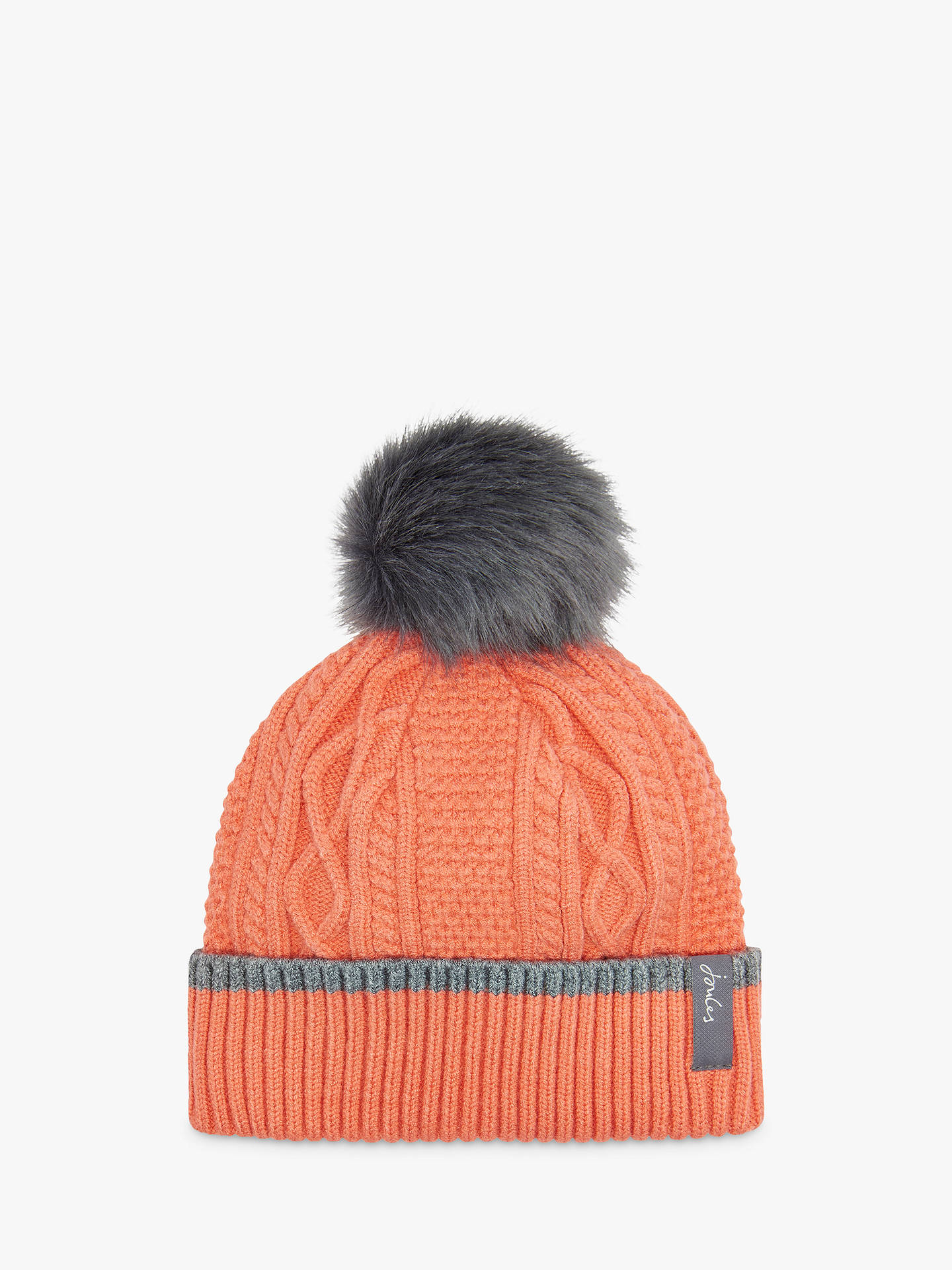 48ff6d2e855 Joules Anya Bobble Cable Knit Pom Pom Beanie Hat at John Lewis ...