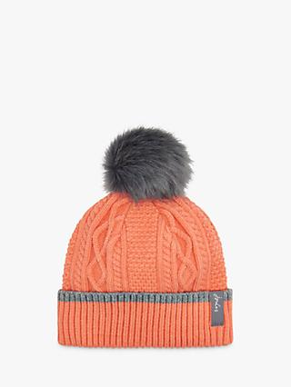 15e812275 Joules Anya Bobble Cable Knit Pom Pom Beanie Hat