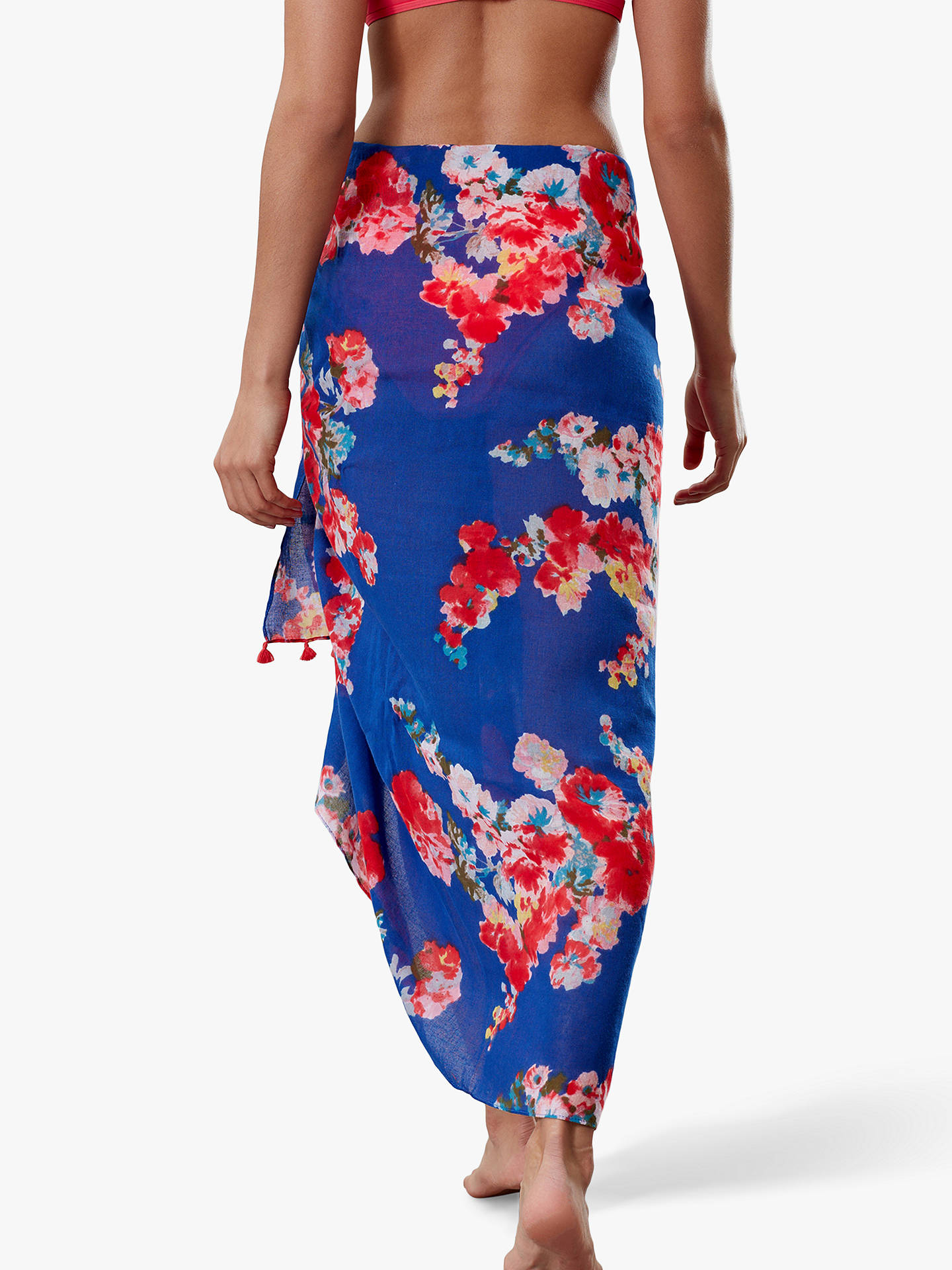 Joules Womens Sirena Sarong BLUE SUMMER STRIPE in One Size