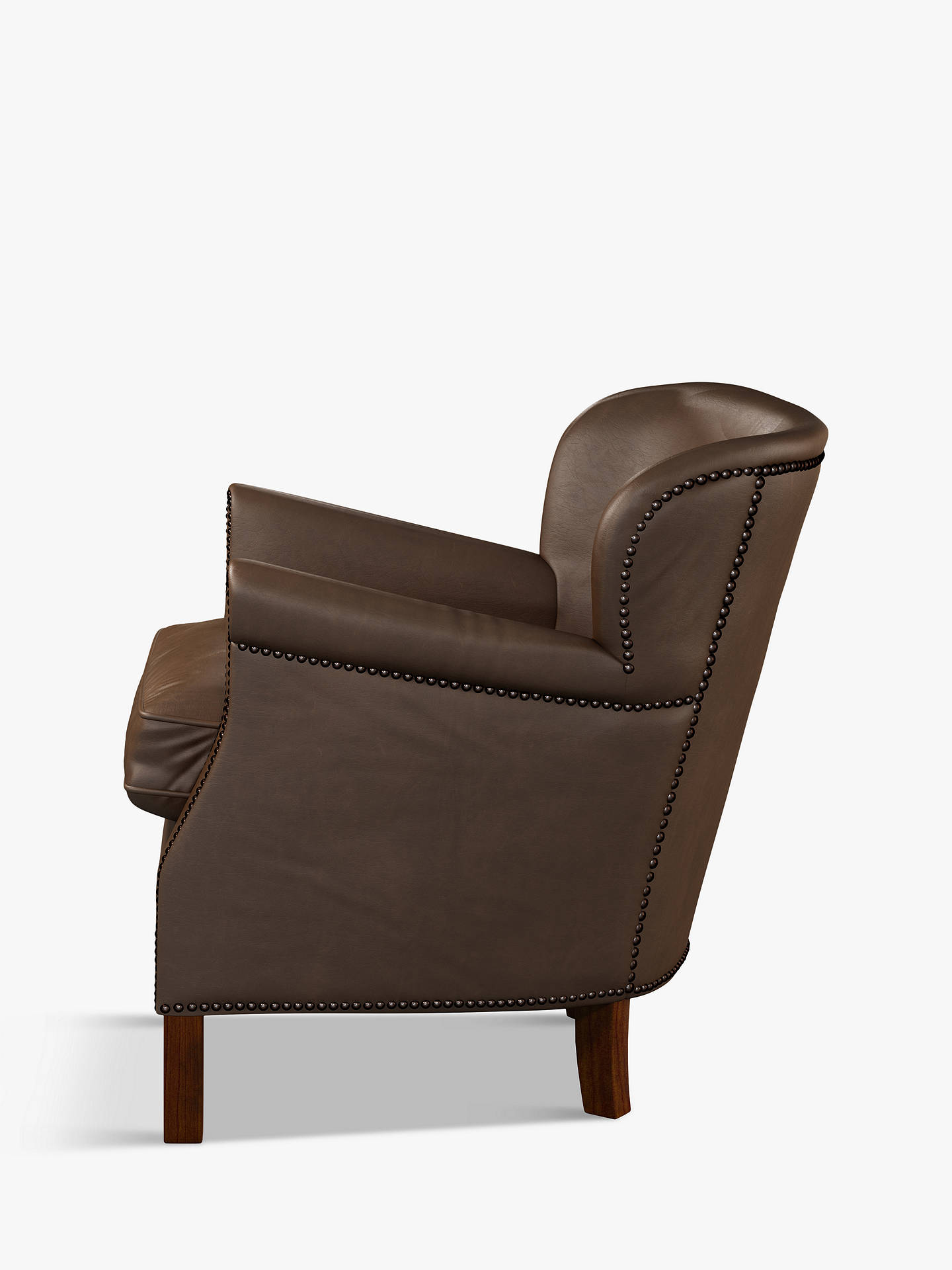 Buy Halo Little Professor Leather Armchair, Natural Washed Chocolate Online at johnlewis.com