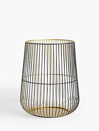 John Lewis & Partners Cage Lantern Candle Holder, Large