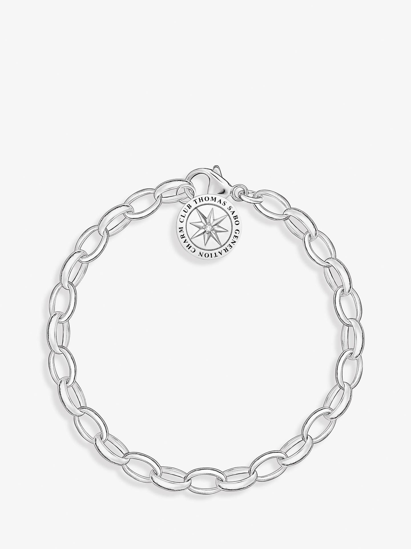 7bc853815ac Buy THOMAS SABO Charm Club Heart Angel Charm Chain Bracelet, Silver Online  at johnlewis.