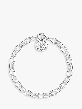 THOMAS SABO Charm Club Heart Angel Charm Chain Bracelet, Silver