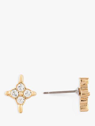 Susan Caplan Vintage D Orlan 22ct Gold Plated Swarovski Crystal Star Stud Earrings