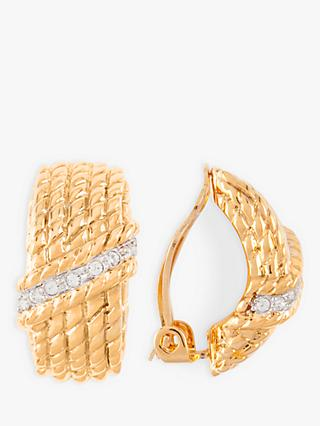 Susan Caplan Vintage Nina Ricci 22ct Gold Plated Demi-Hoop Clip-On Earrings, Gold