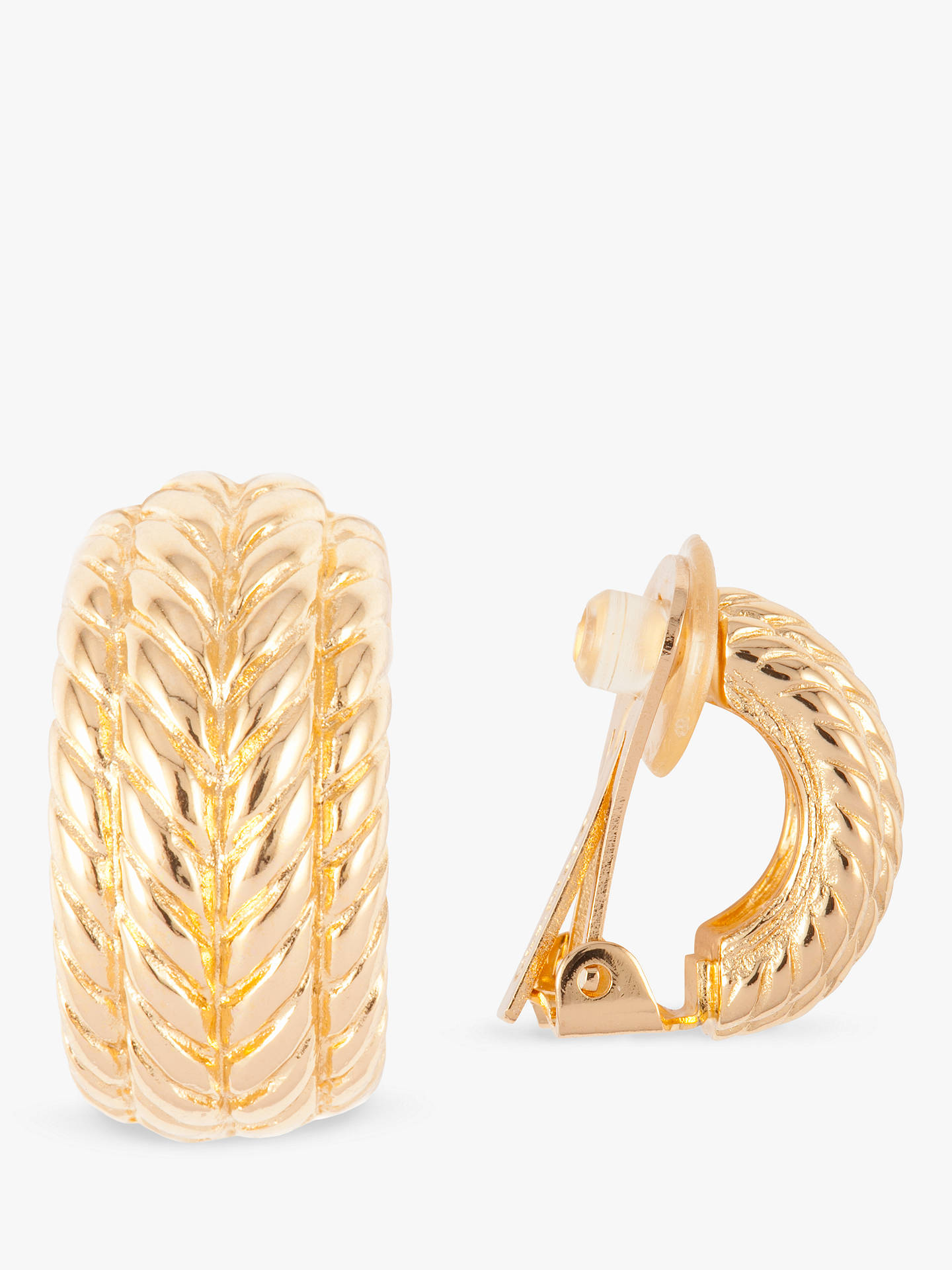 BuySusan Caplan Vintage Christian Dior 22ct Gold Plated Clip-On Hoop Earrings, Gold Online at johnlewis.com
