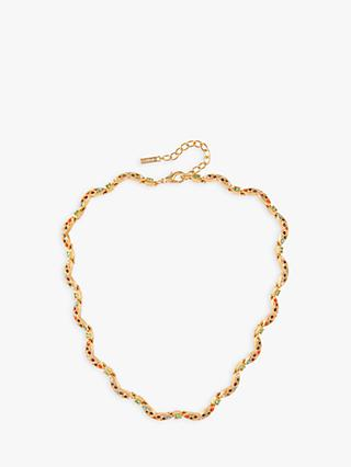 Susan Caplan Vintage D'Orlan 22ct Gold Plated Swarovski Crystals Collar Necklace, Gold/Multi