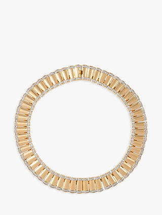 Buy Susan Caplan Vintage 22ct Gold Plated Art Deco Style Collar Necklace, Gold Online at johnlewis.com