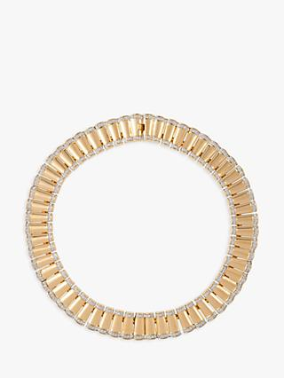 Susan Caplan Vintage 22ct Gold Plated Art Deco Style Collar Necklace, Gold