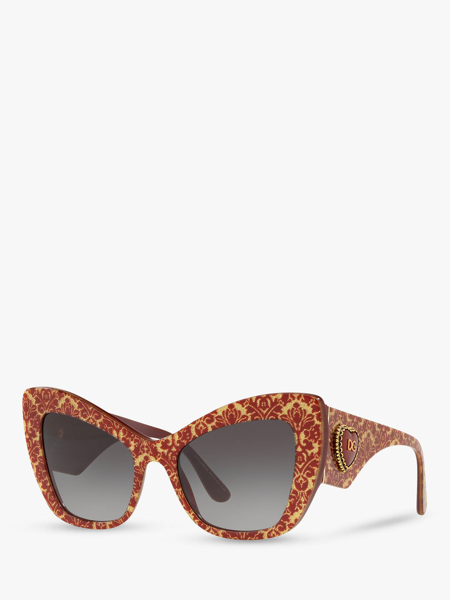 571ade190906 Buy Dolce & Gabbana DG4349 Women's Cat's Eye Sunglasses, Multi/Grey Gradient  Online at ...