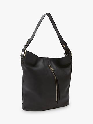 27daa9b83bdf Mint Velvet Mair Leather Zip Hobo Bag