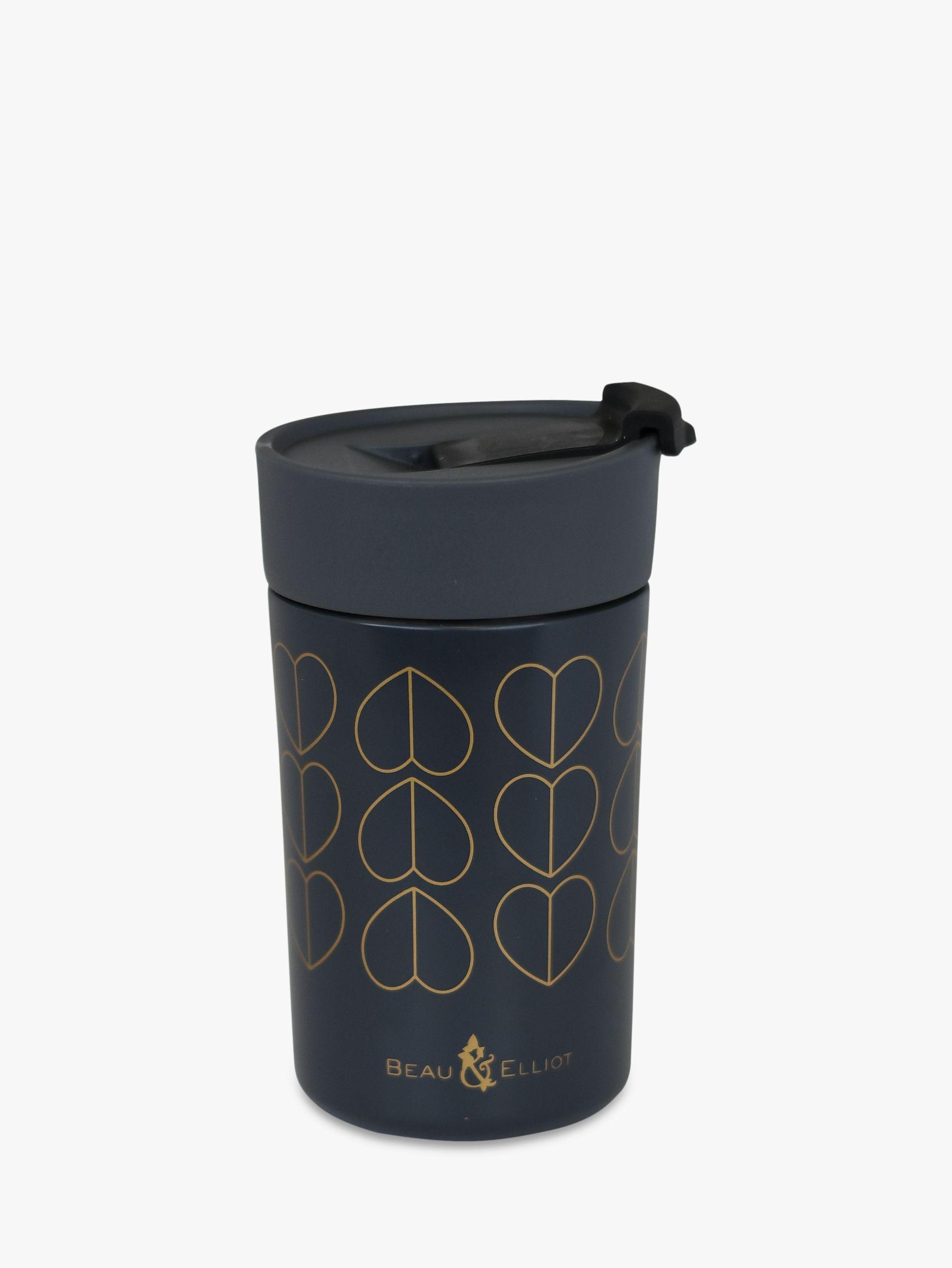 Beau Elliot Dove Insulated Travel Mug Black Gold 350ml At John Lewis Partners