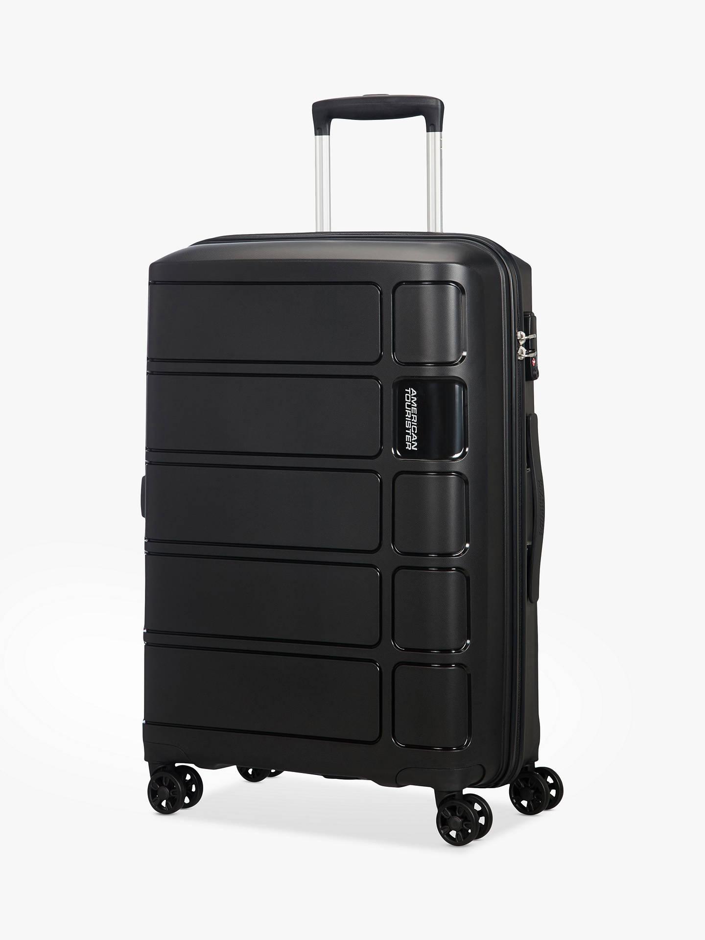 e89ea1dbf Buy American Tourister Summer Splash 4-Wheel 67cm Medium Case, Black Online  at johnlewis