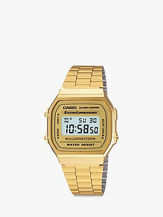 Casio A168WG-9EF-SS Unisex Core Bracelet Strap Watch, Gold