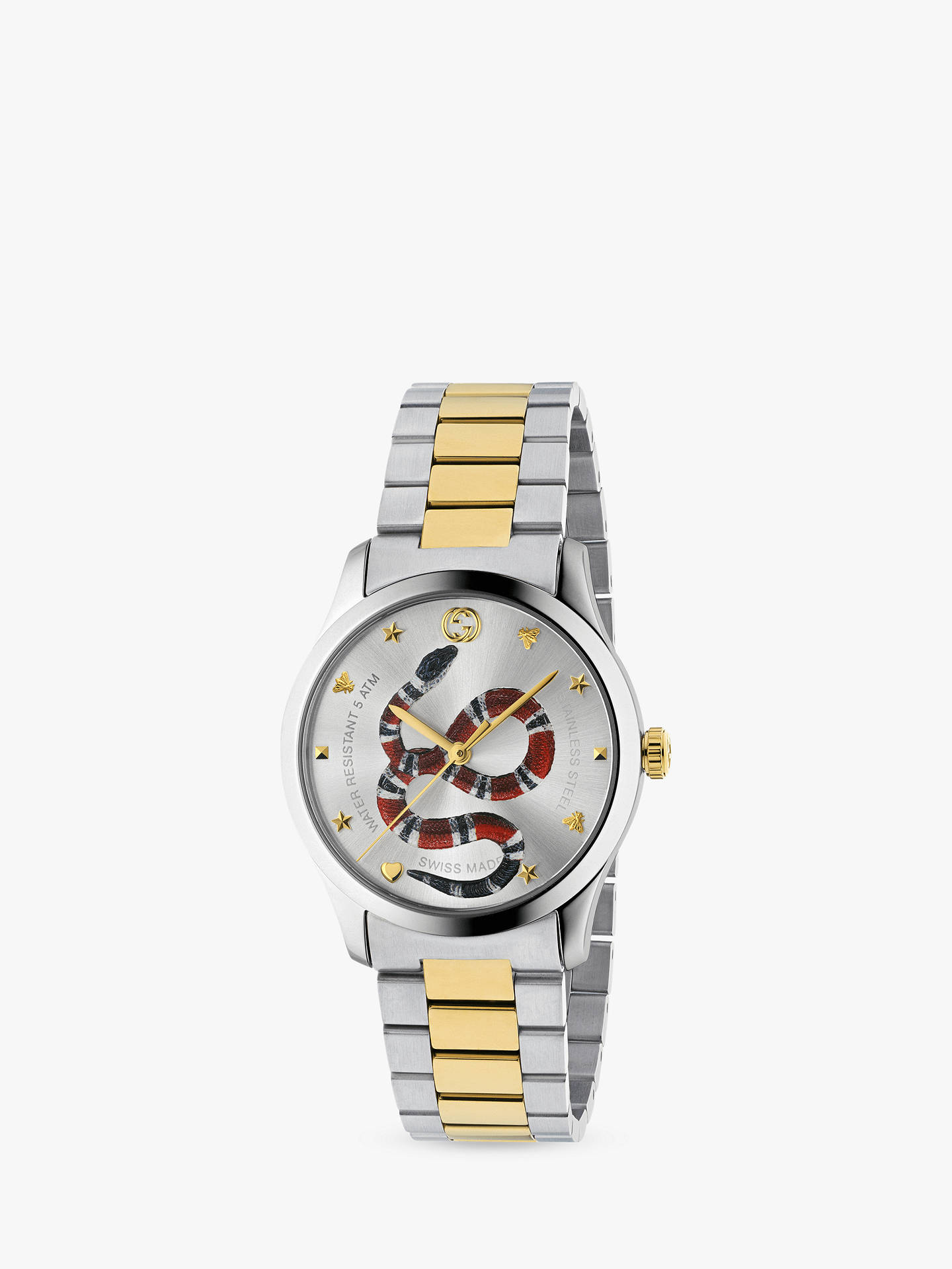 8b2077a75c6 Gucci YA1264075 Unisex G-Timeless Two Tone Bracelet Strap Watch ...