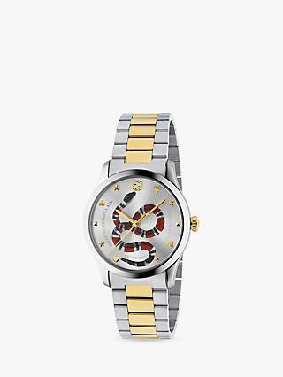 d6623d106f1 Gucci YA1264075 Unisex G-Timeless Two Tone Bracelet Strap Watch