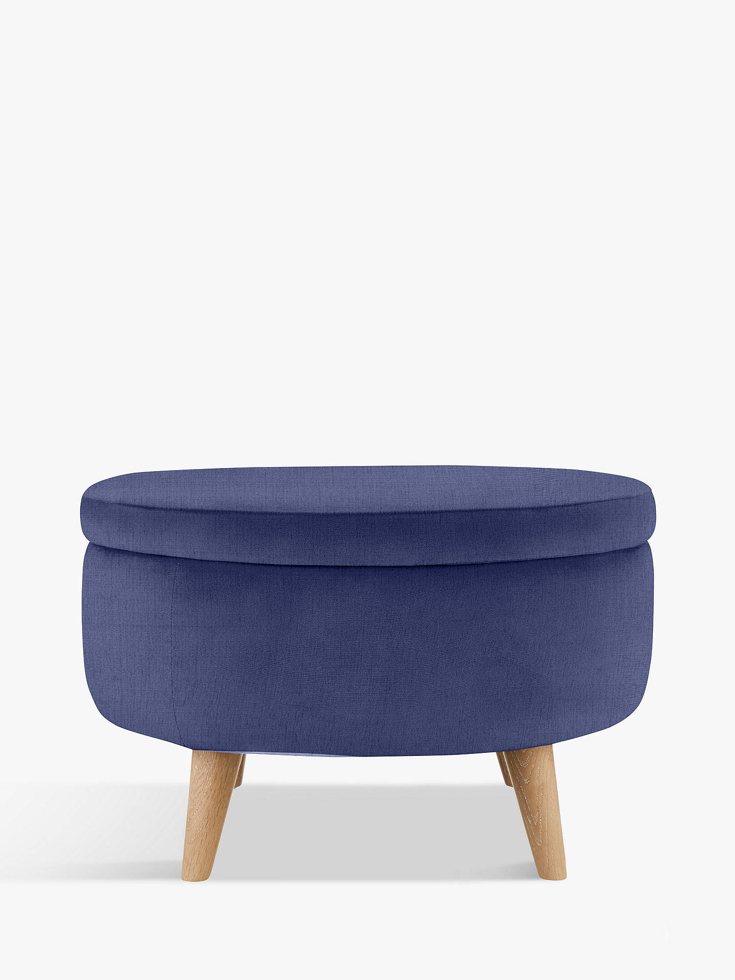 Buy Fondue Footstool by Loaf at John Lewis, Brushed Cotton Navy Online at johnlewis.com
