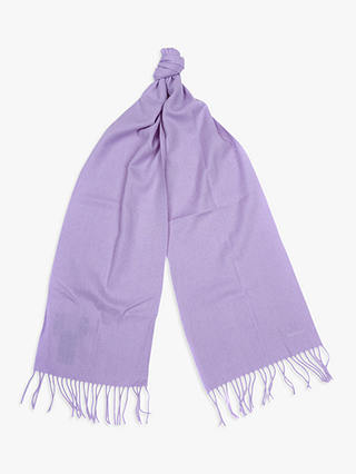 Buy Barbour Lambswool Scarf, Lilac Online at johnlewis.com