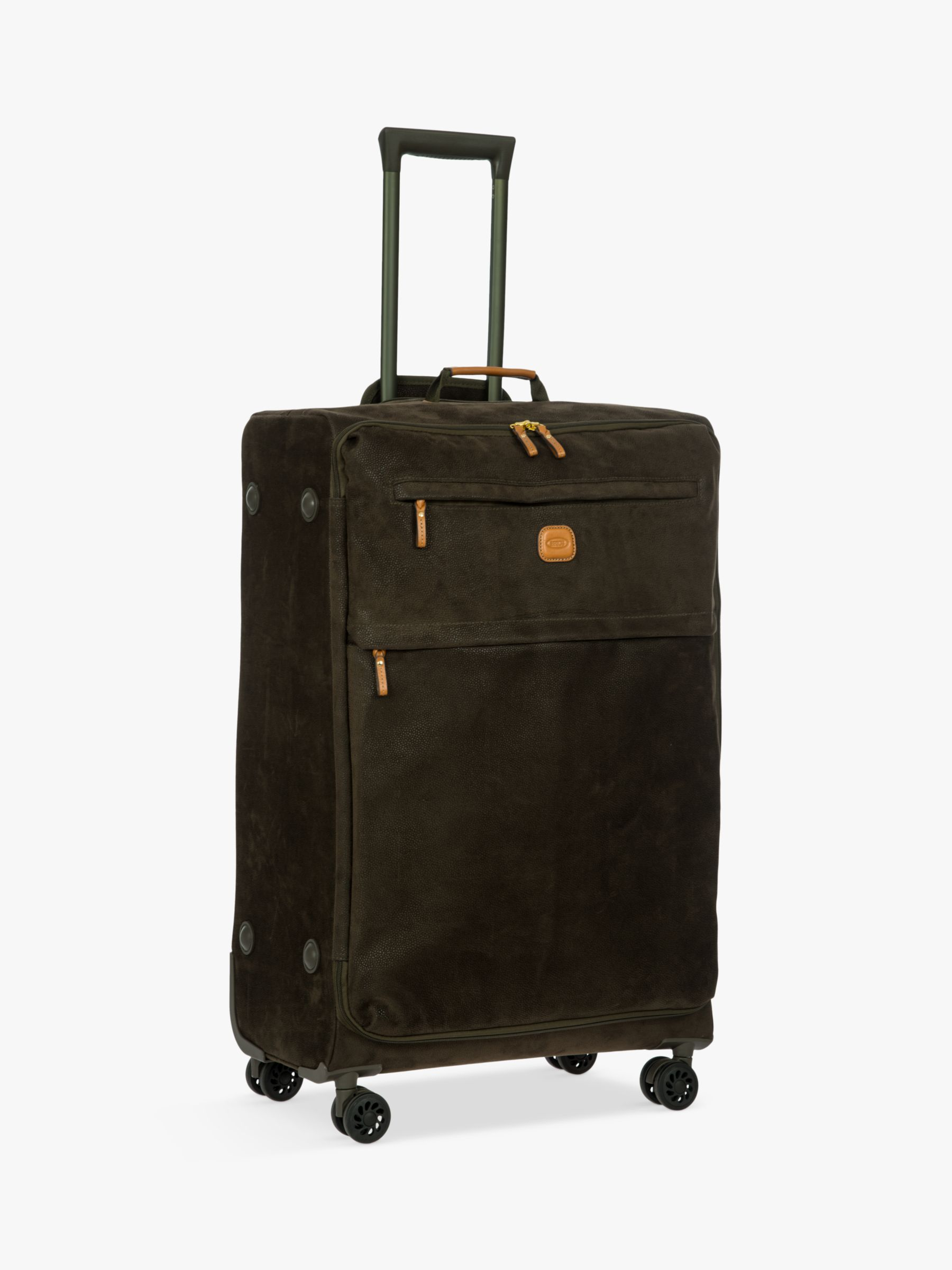 Bric's Bric's Life Lightweight 4-Wheel 77cm Large Spinner Suitcase, Olive