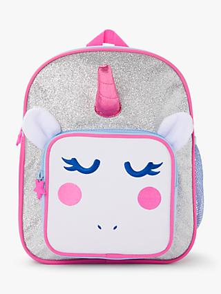 John Lewis & Partners Unicorn 3D Children's Backpack