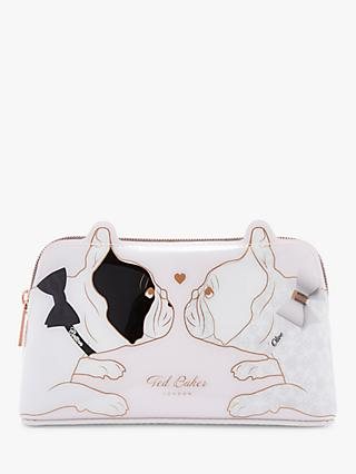 Ted Baker Aria Cotton Dog Bulldog Makeup Bag. Pink Nude