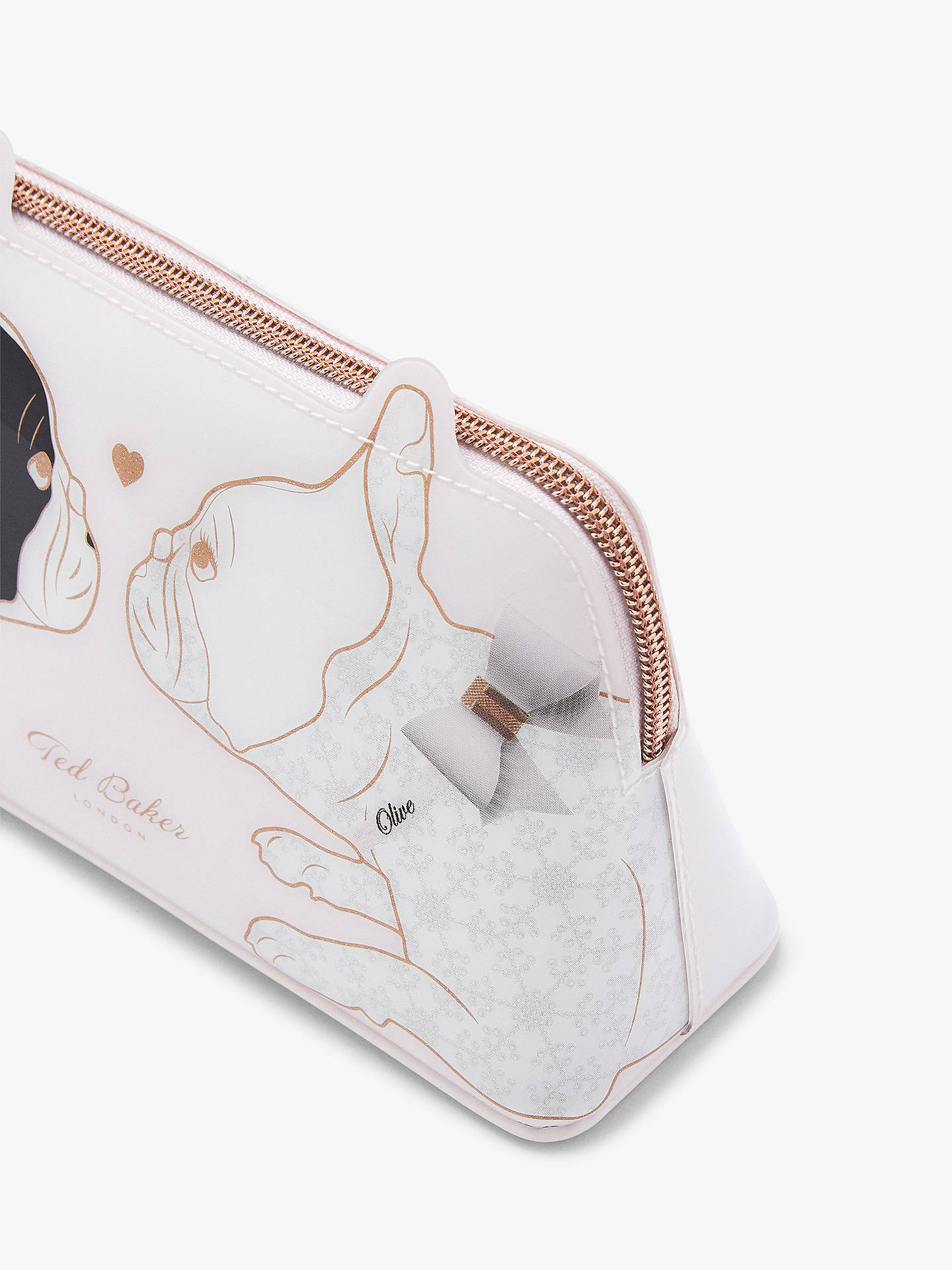 07de809cbbc8 Buy Ted Baker Aria Cotton Dog Bulldog Makeup Bag. Pink Nude Online at  johnlewis.