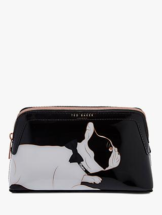 Ted Baker Cotton Dog Makeup Bag, Black