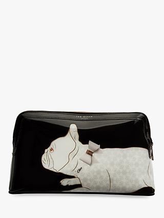 Ted Baker Cotton Dog Wash Bag, Black