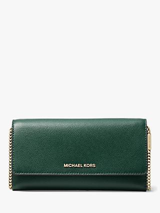 17ff0e328 MICHAEL Michael Kors Crossbodies Leather Wallet On A Chain Clutch Bag