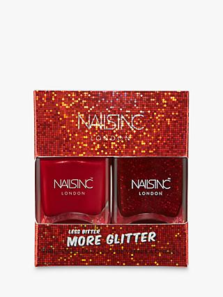 Nails Inc Less Bitter More Glitter Nail Polish Duo