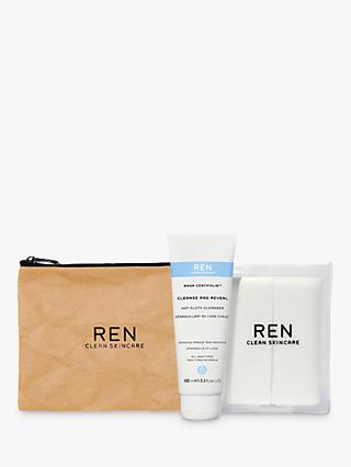 REN Rosa Centifolia™ Cleanse & Reveal Hot Cloth Cleanser Set