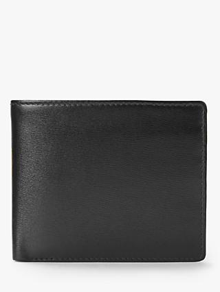 Launer Leather Eight Credit Card ID Window Wallet, Ebony Black/Scarlet