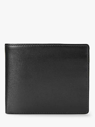 Launer Eight Card Leather Billfold Wallet, Ebony Black