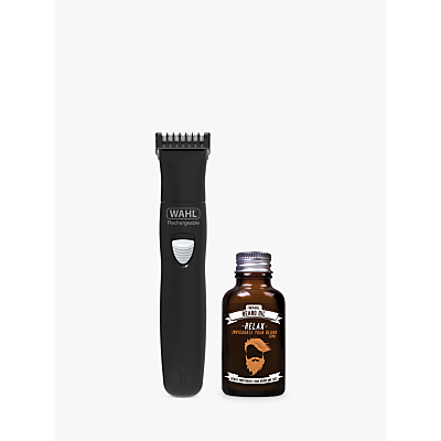 Image of Wahl Beard Trimmer & Beard Oil Gift Set