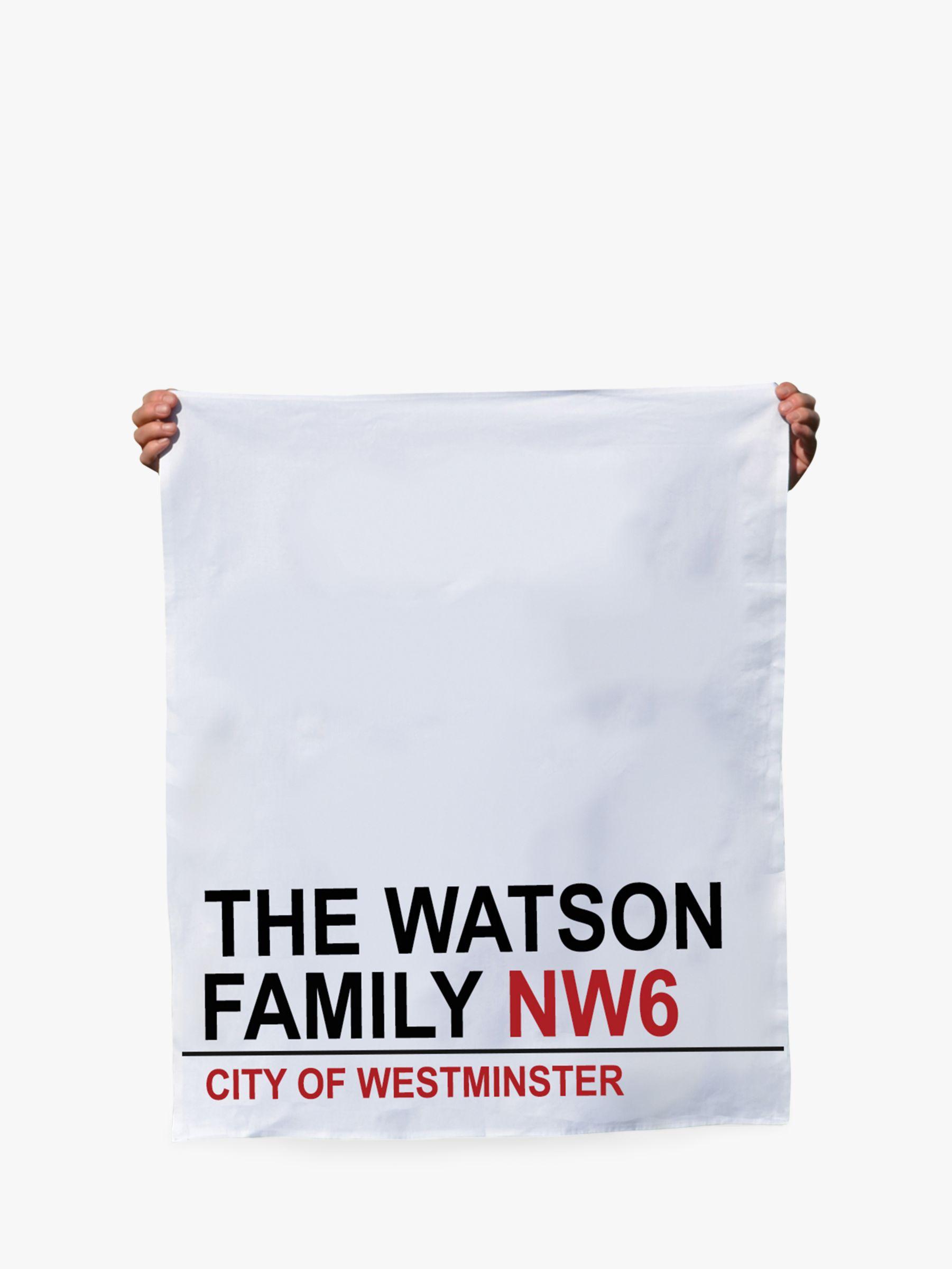 Jonny's Sister Personalised Street Sign Tea Towel