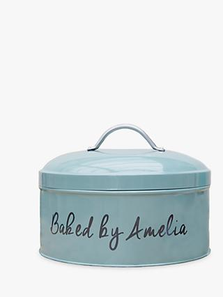 Jonny's Sister Personalised Cake Tin, Teal