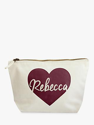 ee05fb625885 Jonny s Sister Personalised Heart Makeup Bag